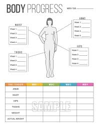 body progress tracker printable body by freshandorganized on etsy fitness workouts fitness weightloss you