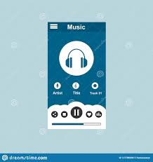 Graphic Design Downloads Pc Media Player Application App Template With Flat Design