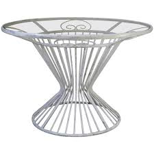 french 1950s iron and glass round dining table