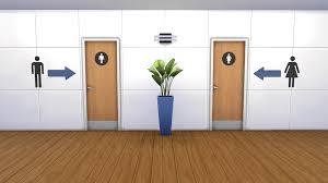 public bathroom doors. Sims 4 Gender Bathrooms Public Bathroom Doors