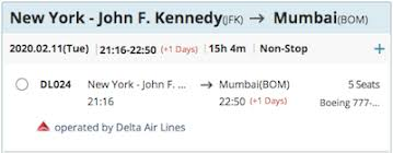 Delta 1492 Seating Chart Deltas New York To Mumbai Flight Now Bookable One Mile At