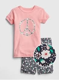 Peace Shorty PJ Set Baby Girl Pajamas | Gap