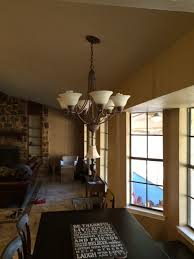 mounting a large light fixture to sloped ceiling good
