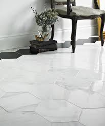 marble floor tile. Misty Fjord™ Hexagon Polished Tile Marble Floor