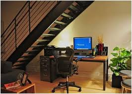 office under stairs. Office Desks Under The Stairway. Stairs