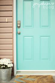Turquoise front door Paint Via Jennifer At The Little Things Billielourdorg Turquoise Thursday Turquoise Front Door Crystal Cattlecrystal Cattle