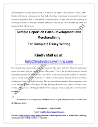 sample report on s development and merchandising by instant essay   providing 12