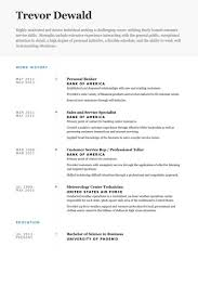 Sample Personal Resume Unique Personal Banker Resume Example Kenicandlecomfortzone