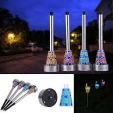 flower bed lighting. Image Is Loading 6-24-PCS-Mosaic-Solar-Light-Garden-Solar- Flower Bed Lighting
