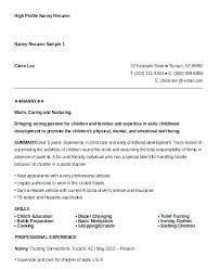 Professional Nanny Resume Sample Babysitting Resume Samples Professional Nanny Resume Sample High
