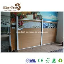 china customized special design aluminum frame wpc composite fence china fence wpc fence