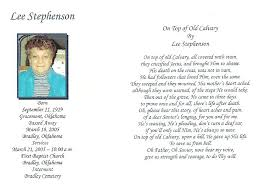 funeral pamphlet lee stephenson s obituary