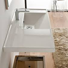 scarabeo nameeks ml 36 wall mounted bathroom sink with presented