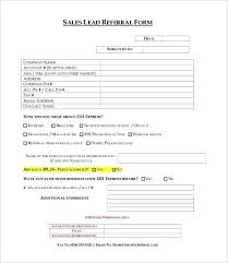 Referral Form Template Word Sales Lead Form Template Word