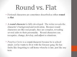 Round and flat characters Term paper Academic Writing Service