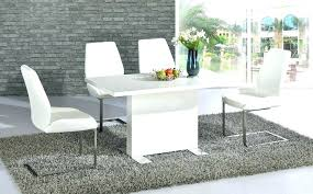 white high gloss dining table and chairs modern white dining room table modern white gloss dining