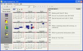office organizer software. screenshot of edaily assistant office organizer software o