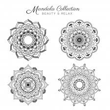 Set Van Mandala Decoratieve En Sier Ontwerp Voor Kleurplaat