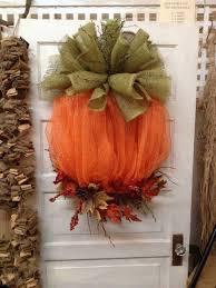 mesh burlap pumpkin wreath these are the best homemade fall craft ideas