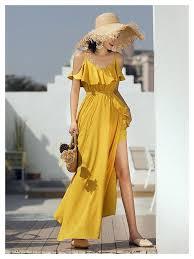 Yellow Ruffle <b>Maxi Summer Dress</b> #romper #summerfashion #<b>dress</b> ...
