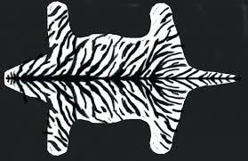 white tiger rug faux