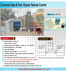 universal garage door opener remote. ALEKO | LM139(SYK01) Gate Garage Door Opener Universal Receiver With 1 Remote