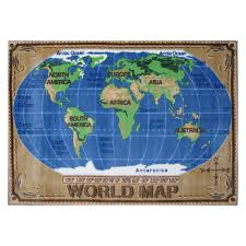 fun rugs supreme tsc 153 world map area rug multicolor new