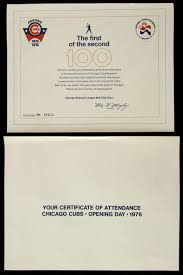 Lot Detail 1976 Chicago Cubs Wrigley Field Opening Day