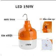 Giá bán | BÓNG ĐÈN LED SẠC TÍCH ĐIỆN 6-8H- 100W CÔNG TẮC 3 CHẾ ĐỘ SÁNG  (Chất liệu: Nhựa ABS độ bền cao không bị vỡ khi va đập nhẹ)