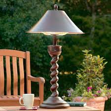 weather resistant outdoor heater disguised as a handsome table lamp for my future patio