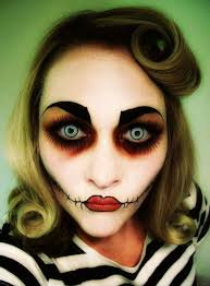 creative scary make up