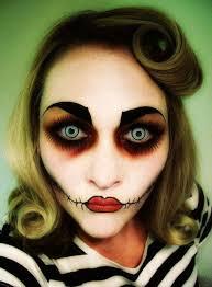 creative scary halloween make up
