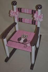 Childrens Custom Hand Painted Girls Owl Pink and <b>Brown Rocking</b> ...