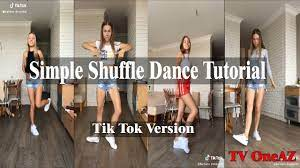 simple shuffle dance tutorial tiktok