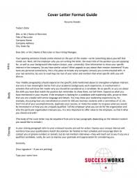 Rsume Cover Letter Resume Cover Letters Successworks Uw Madison