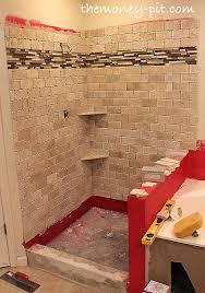 master bathroom week 5 installing shower shelves the way