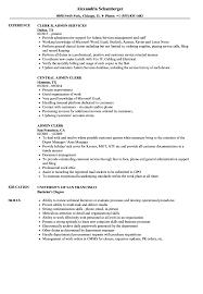 Postal Clerk Resume Sample Resume Sample for Admin Clerk Danayaus 60