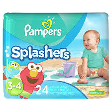 Pampers Splashers Disposable Swim Diapers Size 3 4 24