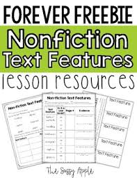 Nonfiction Text Features Anchor Chart Printable Free Nonfiction Text Features Graphic Organizers