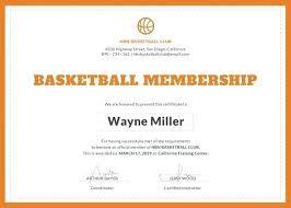 Basketball Certificate Template Naomijorge Co