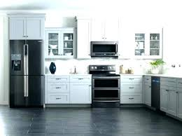 kitchens with white cabinets and black appliances. Kitchen With Black Appliances How To Decorate A And Grey Kitchens White Cabinets E