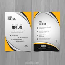 Free Download Brochure Ai Modern Business Brochure Template Vector Free Download