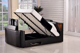 tv bed with storage. Contemporary Bed Paris Double Ottoman TV Bed U2013 Black And Frame Raised Storage Open In Tv With O