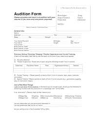 Audition Resume Format Fascinating Theatre Resume Example Template Best Of Audition Format Acting