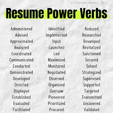 Use These Power Verbs To Revitalize And Revamp Your Resume