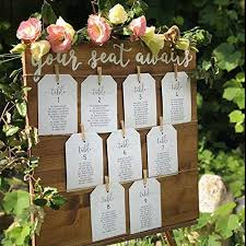 Amazon Com Wedding Seating Chart Sign Customize Colors And