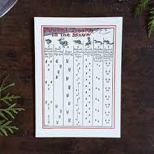 Animal Tracks In The Snow Animal Tracks Letterpress Greeting Cards Letterpress Cards