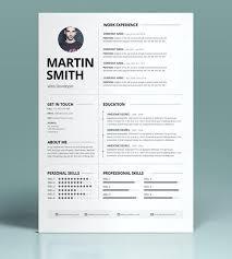 Modern Minimalist Resume Free Template Minimalist Resume Template Minimalist Resume Template Best Minimal