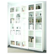 billy bookcase doors white cm with glass ikea oak