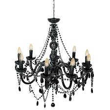 mariah 9 arm black glass chandelier for ideas 2